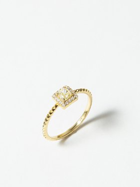 HISPANIA / Classic square diamond ring