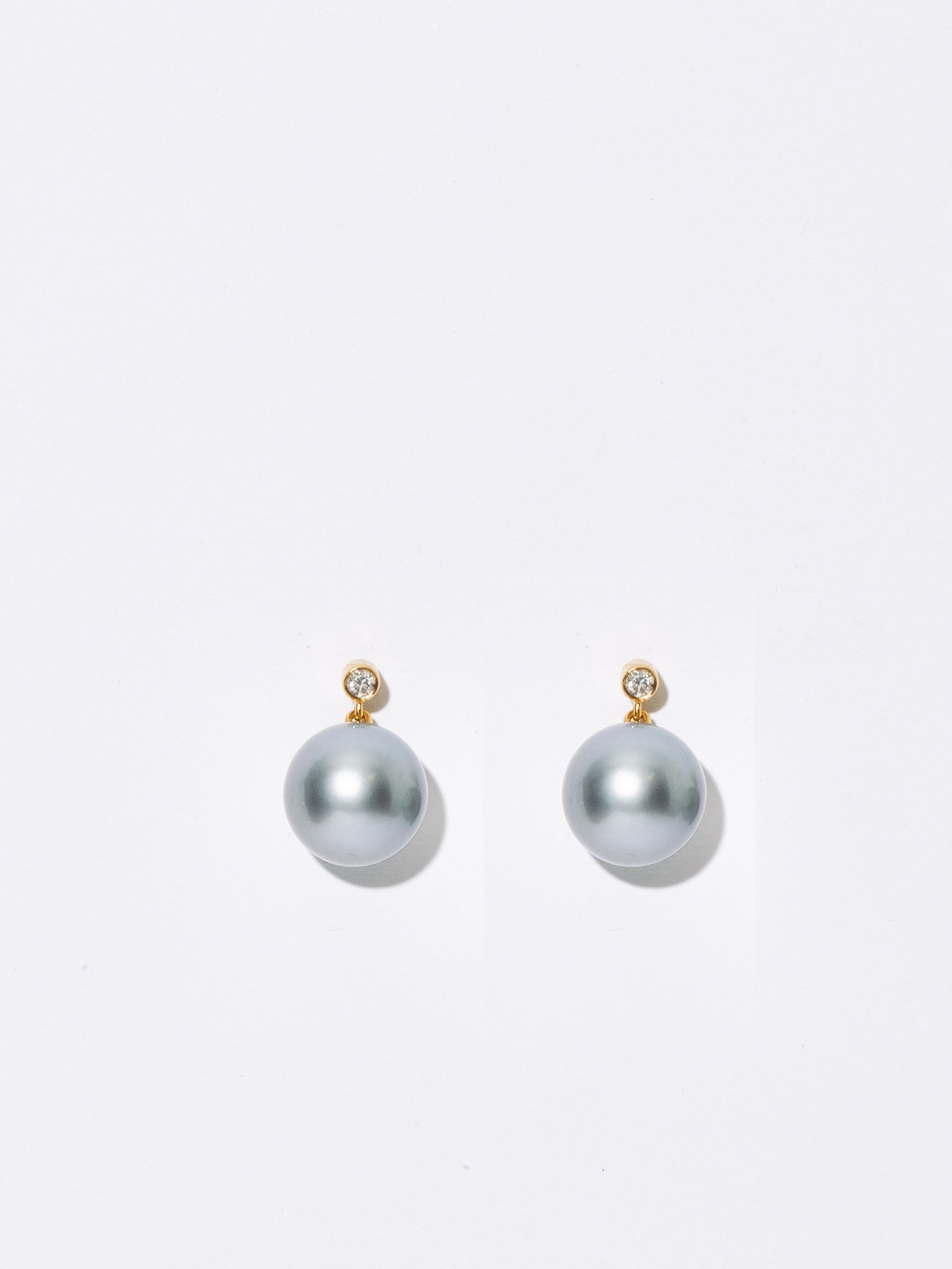 SOPHISTICATED VINTAGE / Drop pearl earrings Diamond / 在庫商品