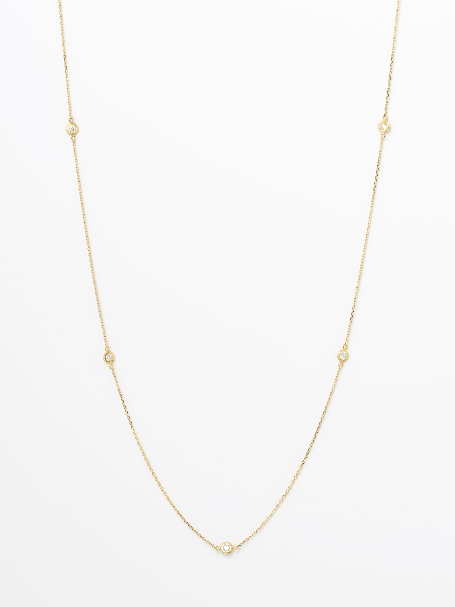 HISPANIA / Dew long necklace 在庫商品 / 950mm White sapphire