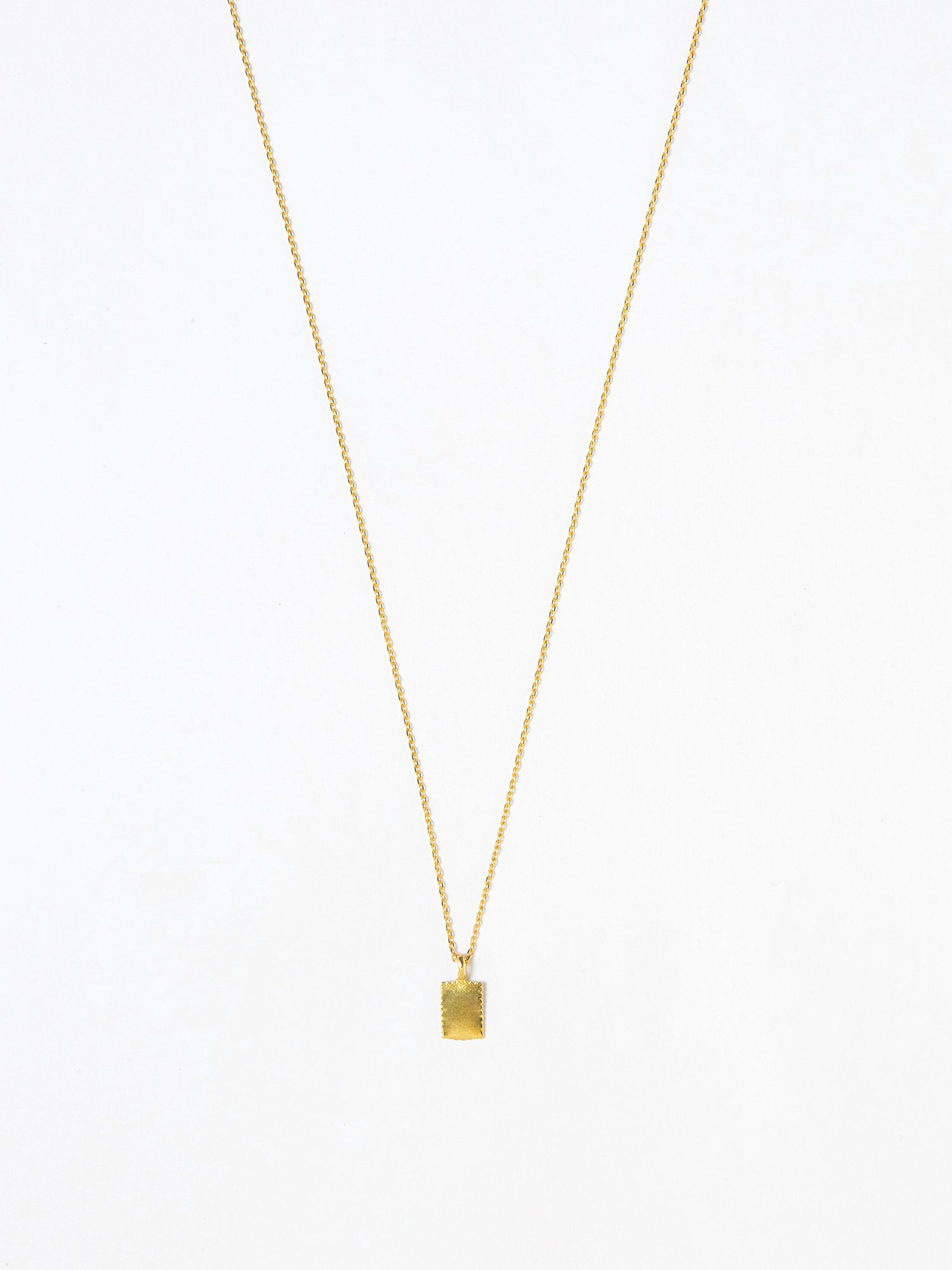 HELIOS / French square necklace