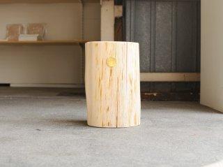<Cul de Sac - JAPON/カルデサック-ジャポン>HIBA WOOD SIDE TABLE 丸太サイドテーブル H-24cm