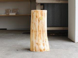 <Cul de Sac - JAPON/カルデサック-ジャポン>HIBA WOOD SIDE TABLE 丸太サイドテーブル H-36cm