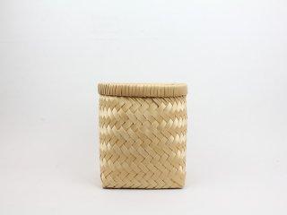 <Cul de Sac - JAPON/カルデサック-ジャポン>HIBA BASKET 青森ヒバ籠(かご)/筒型-Medium