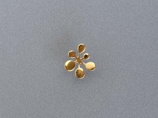 〈YURI MIYATA〉【Pierce】Leaf / Circle L gold (single)