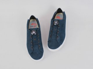 <ptarmigan/ターミガン>SUEDE COURT SHOES(Navy)