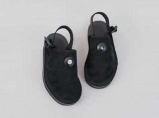 <ptarmigan/ターミガン>SUEDE SABOT(Black)