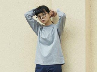<L&HARMONY WOMEN>ハイクルーネックポケットロングスリーブTシャツ(Gray)
