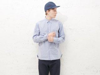 <L&HARMONY MEN/エルアンドハーモニーメン>タイプライターギャザーシャツ(Sax)