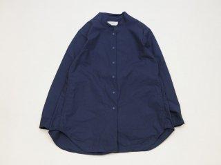 <L&HARMONY WOMEN/エルアンドハーモニーウーマン>マオカラーロングシャツ(Navy)