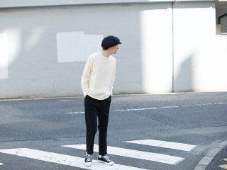 〈L&HARMONY MEN/エルアンドハーモニーメン〉ハイクルーネックポケットロングスリーブTシャツ(White)