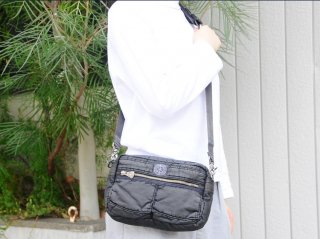 <Porter Classic/ポータークラシック>S/N SHOULDER BAG S(Black)
