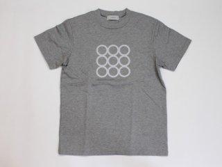 <L&HARMONY WOMEN/エルアンドハーモニーウーマン>ハイクルーネックプリントTシャツ○(Gray)