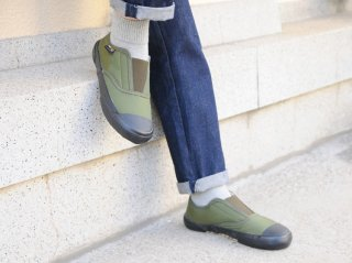 <REPRODUCTION OF FOUND/リプロダクションオブファウンド>ITALIAN MILITARY TRAINER(Olive/Black Sole)