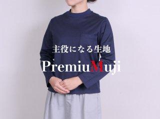 <L&HARMONY WOMEN/エルアンドハーモニーウーマン>ロングスリーブハイクルーネックポケットTシャツ New Model(Navy)