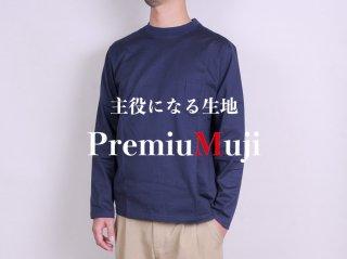 <L&HARMONY MEN/エルアンドハーモニーメン>ハイクルーネックポケットロングスリーブTシャツ New Model(Navy)