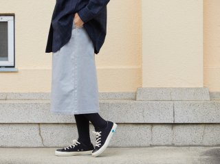 <L&HARMONY WOMEN/エルアンドハーモニーウーマン>ストレッチツイルベーシックスカート(Gray)