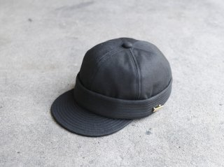 <MAISON Birth/メゾンバース>2WAY ROLL CAP(Black)