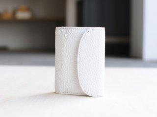 <StitchandSew/スティッチアンドソー>牛シボ小型三つ折財布(White)