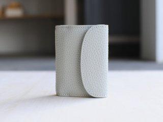 <StitchandSew/スティッチアンドソー>牛シボ小型三つ折財布(Gray)
