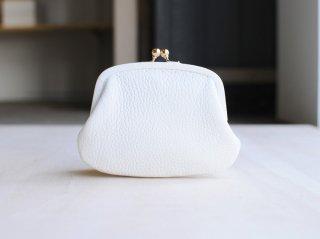 <StitchandSew/スティッチアンドソー>牛シボ小型がま口財布(White)