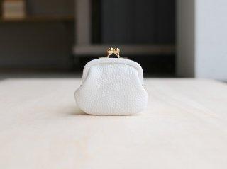 <StitchandSew/スティッチアンドソー>牛シボがま口小銭財布(White)
