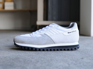 <ZDA/ゼットディーエー>MARATHON(White×Light Gray)