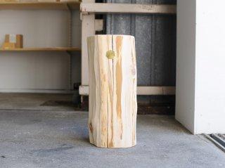 <Cul de Sac - JAPON/カルデサック-ジャポン>HIBA WOOD SIDE TABLE(S) 丸太サイドテーブル(S) H-36cm
