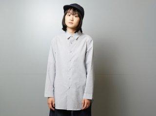 <L&HARMONY/エルアンドハーモニー>シアサッカーロングフレアシャツ(Stripe)