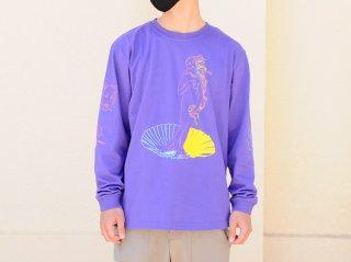 """【アーティスト×世界の名画シリーズ第一弾】<L&HARMONY/エルアンドハーモニー>苦虫ツヨシ×L&HARMONY ロンT""""ヴィーナスの誕生""""(Violet Purple)"""