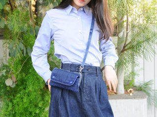 <Porter Classic/ポータークラシック>S/N WALLET POUCH(Indigo Blue)
