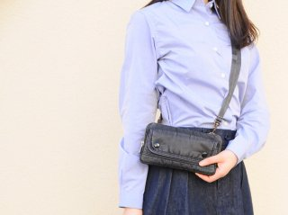 <Porter Classic/ポータークラシック>S/N WALLET POUCH(Black)