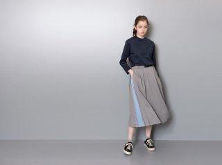 <L&HARMONY/エルアンドハーモニー>ストライプニットスイッチスカート(Gray)