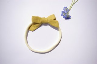 baby headband ☆Yellow Linen