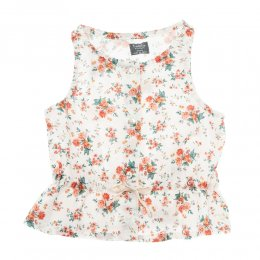 <img class='new_mark_img1' src='//img.shop-pro.jp/img/new/icons24.gif' style='border:none;display:inline;margin:0px;padding:0px;width:auto;' />Tocoto Vintage/ Sleeveless flower blouse with waist ribbon