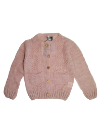 <img class='new_mark_img1' src='https://img.shop-pro.jp/img/new/icons14.gif' style='border:none;display:inline;margin:0px;padding:0px;width:auto;' />Tocoto Vintage/Open-work ribbed knit cardigan/Pink