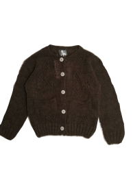 <img class='new_mark_img1' src='https://img.shop-pro.jp/img/new/icons14.gif' style='border:none;display:inline;margin:0px;padding:0px;width:auto;' />Tocoto Vintage/Open-work ribbed knit cardigan/Brown