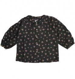 <img class='new_mark_img1' src='https://img.shop-pro.jp/img/new/icons14.gif' style='border:none;display:inline;margin:0px;padding:0px;width:auto;' />Tocoto Vintage/Flower print blouse/Dark Brown