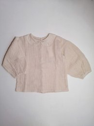 <img class='new_mark_img1' src='https://img.shop-pro.jp/img/new/icons14.gif' style='border:none;display:inline;margin:0px;padding:0px;width:auto;' />Tocoto Vintage/Bobo collar blouse with puff sleeves/Off-White