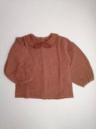 <img class='new_mark_img1' src='https://img.shop-pro.jp/img/new/icons14.gif' style='border:none;display:inline;margin:0px;padding:0px;width:auto;' />Tocoto Vintage/Bobo collar blouse with puff sleeves/Pink