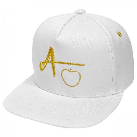 【数量限定】AppleGaming オリジナル ロゴキャップ<White/Gold>