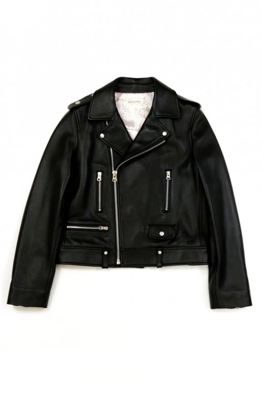 Lamb Leather Riders Jacket(black)