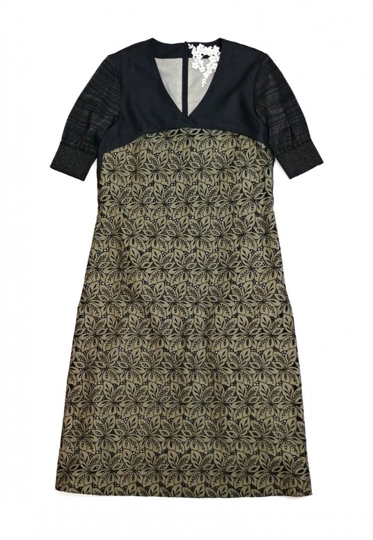 YATSUDE Cutwork Dress(khaki)