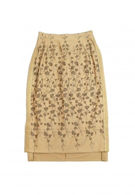 Botanical Packer Skirt(camel)
