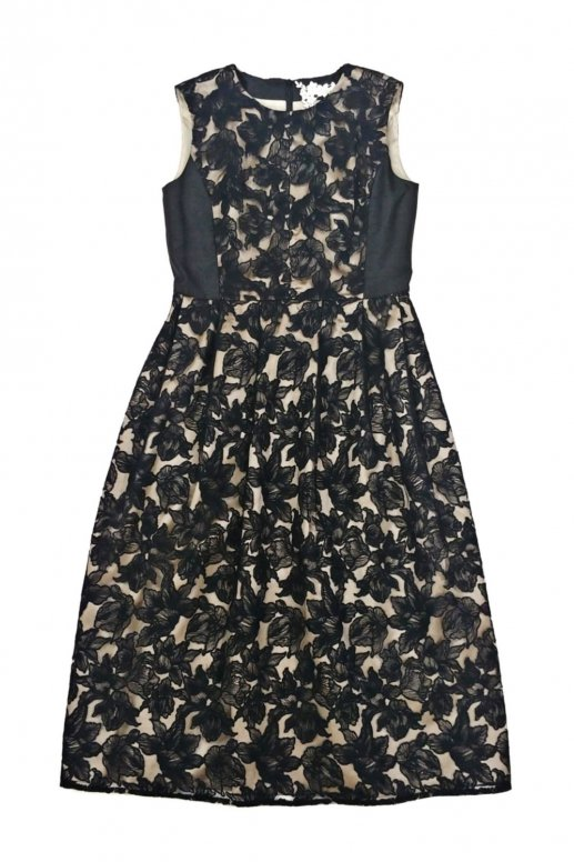Drawing Flower Dress(black)
