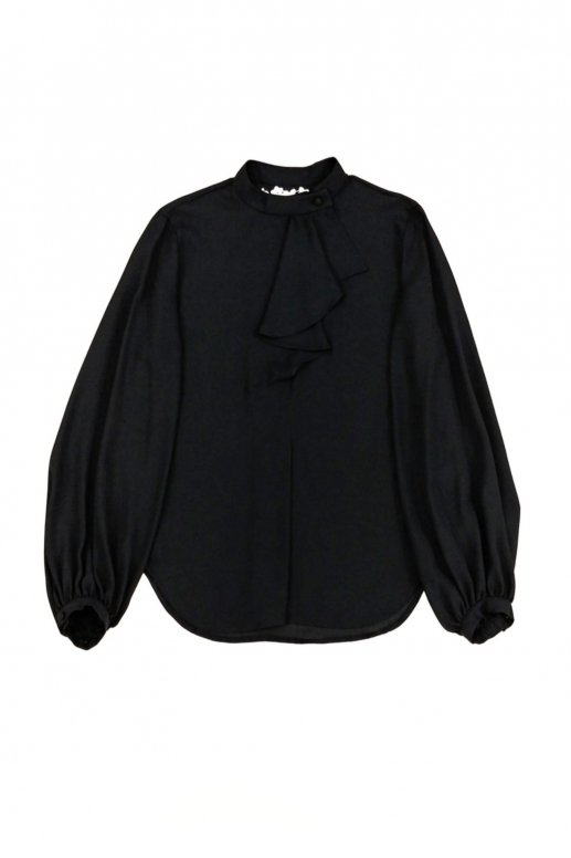 Front Frill Blouse(black)