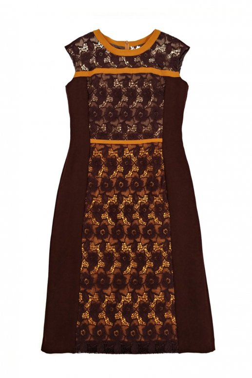 Overlap Flower Dress(maple)