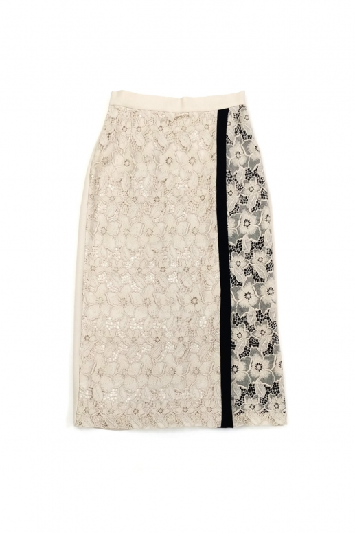 Overlap Flower Skirt(beige)