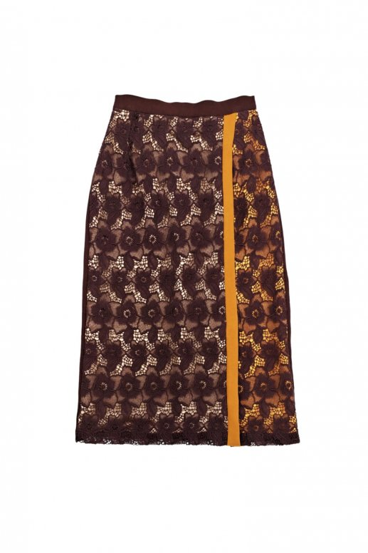 Overlap Flower Skirt(maple)