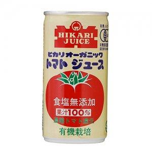 ヒカリオーガニックトマトジュース無塩 190g
