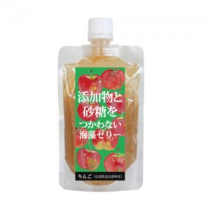 添加物と砂糖を使わない海藻ゼリー りんご